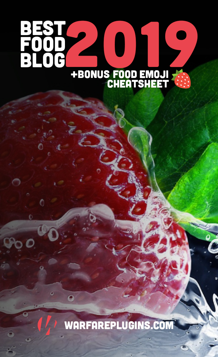 Caution! This list of the best food blogs and BONUS Food Emoji & Hashtag Cheatsheet is definitely going to make you hungry! #NomNomNom #Foodies #FoodBloggers 🍒🍓🍊🍎🍐🍌