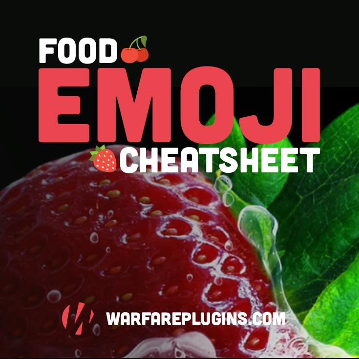 FREE Food Emoji & Hashtag Cheatsheet