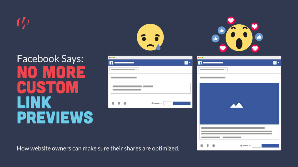 Facebook no longer allowing custom link previews