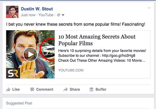 facebook youtube share