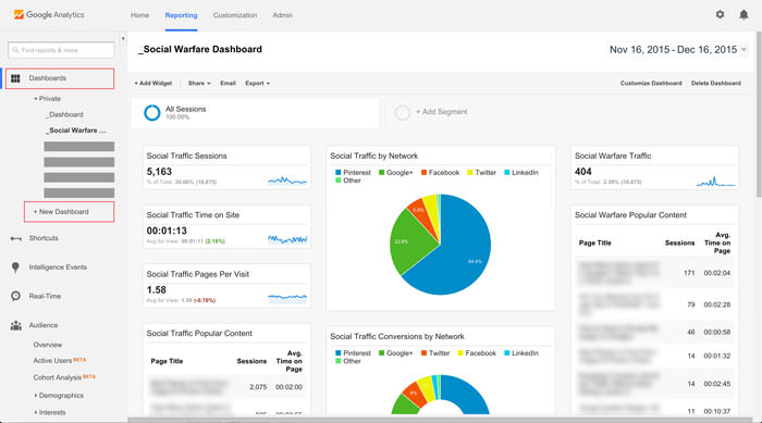 new google analytics dashboard