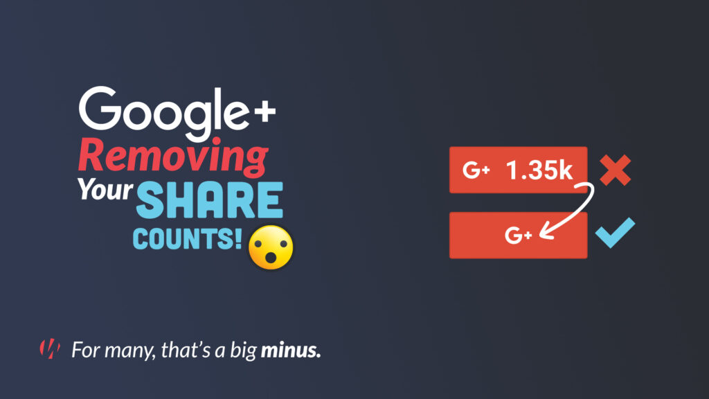 Google plus removing share counts