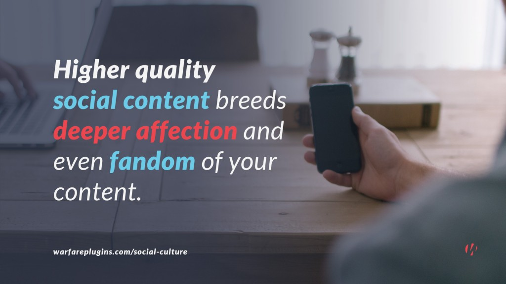 higher quality social media content quote
