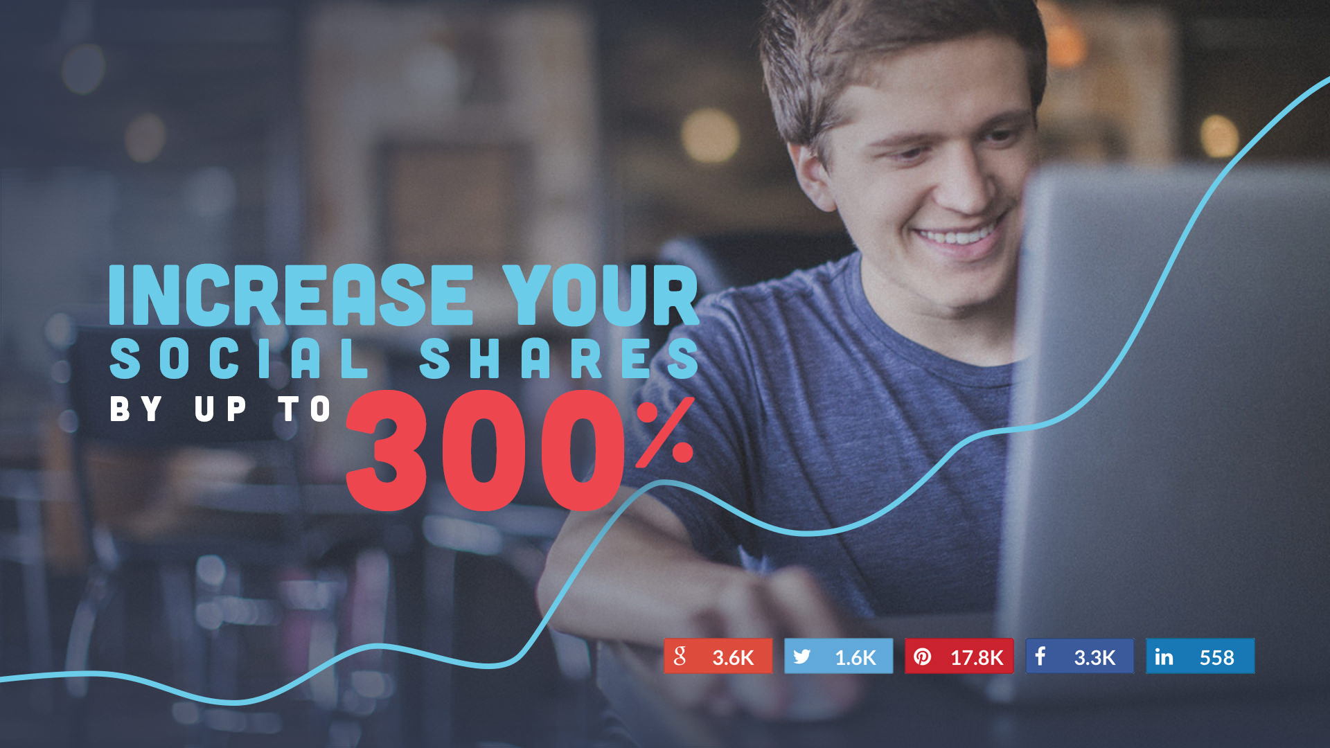 increase your social shares up to 300%