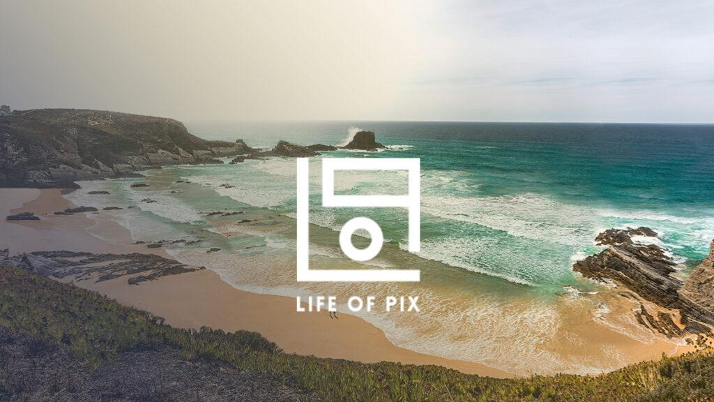 Life of Pix Logo Wallpaper