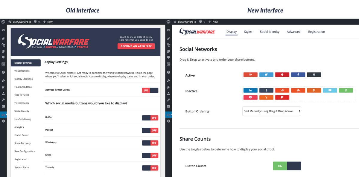 new interface comparison