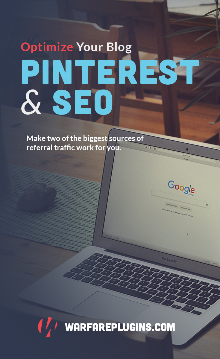 Tap into two of the biggest sources of website traffic with one simple strategy. With this guide, you'll take your Pinterest optimization & SEO to the next level. #wordpress #blogging #pinterest #pinteresttips