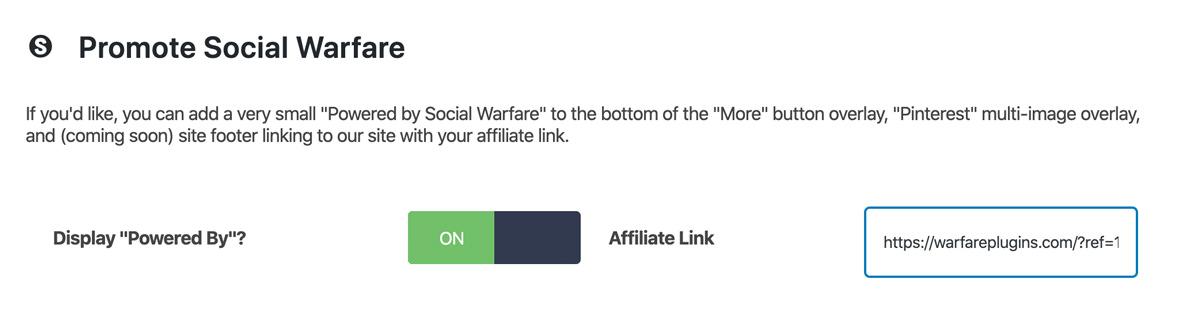 powered by social warfare option