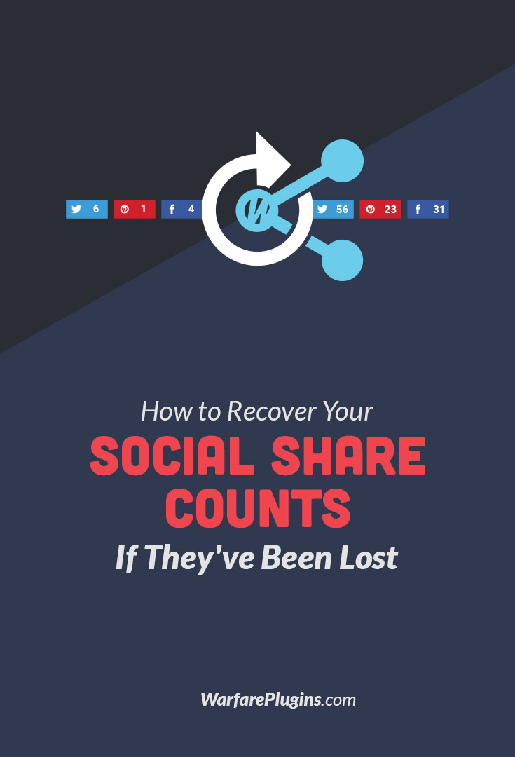 If you've lost your social share counts because of a domain change or permalink switch, this article is for you! This one tool can bring back all your share counts.