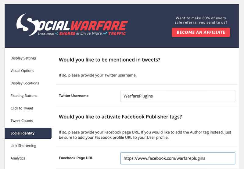social warfare publisher field