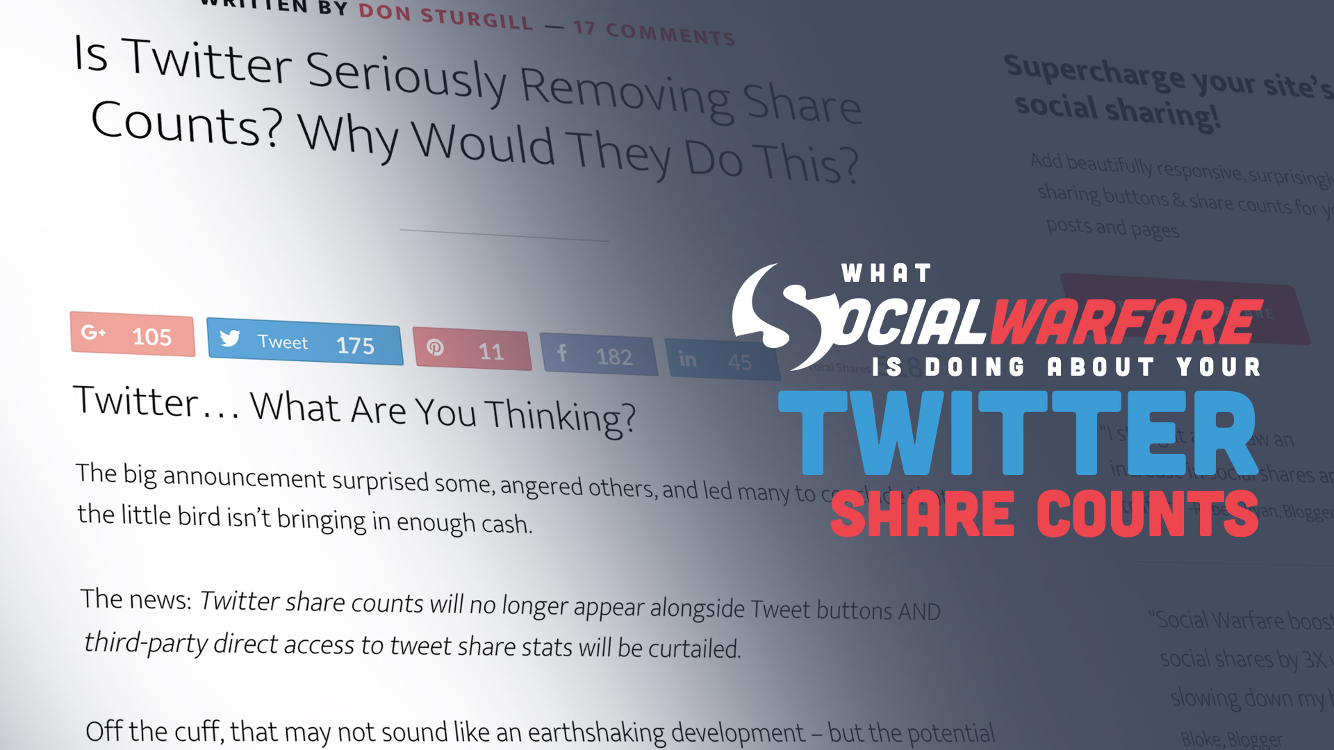 what we're doing about twitter share counts